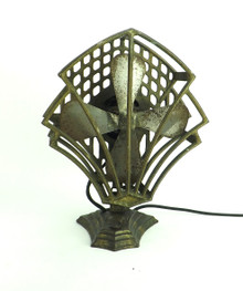 Circa 1933 Robbins & Myers Modernistic Or Peacock Oscillating Desk Fan