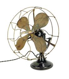 "Circa 1920's 12"" Veritys Orbital Oscillator Desk Fan"