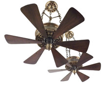Pair Custom 1916 Emerson Chain Hung Ceiling Fans
