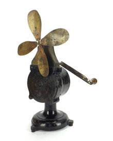 Circa Late 1800's DeRossi Clockwork Fan Ventilator