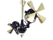 "Circa 1912 Professionally Restored Jandus ""Gyro Fan"" Ceiling Fan"