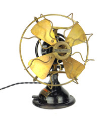 "Circa 1915 8"" Menominee Staghorn Oscillating Desk Fan"