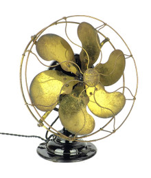 Circa 1912 6 Blade Emerson Type 17666 Desk Fan