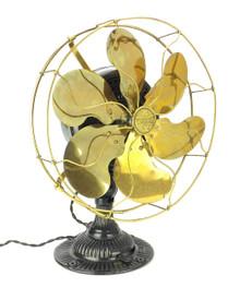 """Circa 1910 12"""" Emerson 12666 Desk Fan Restored"""