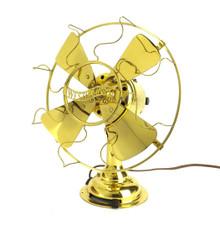 """Circa 1912 Westinghouse 8"""" All Brass Desk Fan"""