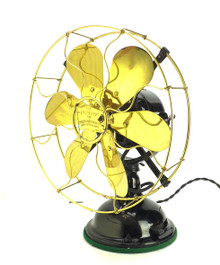 "Circa 1910 12"" Robbins & Myers 14040 6 Blade Original Condition Desk Fan"