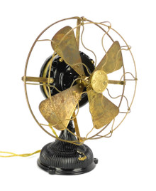 "Restored 1903 12"" GE Pancake Desk Fan"