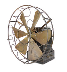 "Circa 1890's 12"" Victor Iron Clad Desk Fan"