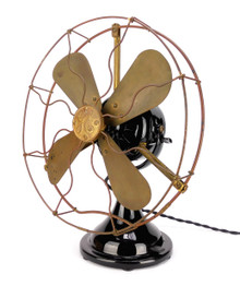 "Circa 1914 12"" GE Small Motor Yoke (SMY) Desk Fan Restored/ Original"