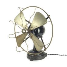 """Early 1900's Ventilator D.E.W. German 12"""" Desk Fan"""