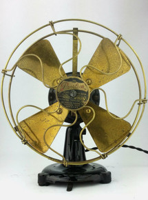 "Original 1914 Peerless 8"" Tab Base Desk Fan"