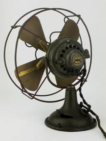 """Original 8"""" Brass Fidelity Desk Fan"""