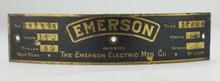 Original Emerson 21666 Motor Tag