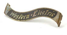 Original Brass Western Electric Banner Cage/Guard Tag Badge