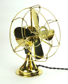 "Restored All Brass 8"" Jandus Fan"