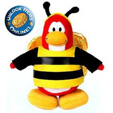 "Club Penguin Limited Edition 6.5"" Plush Series 3 - Bumble Bee"