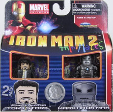 Senate Hearing Tony Stark & Mark I Iron Man 2 Minimates Mini Figure 2 Pack Exclusive