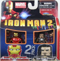 Mark IV Iron Man & Whiplash Iron Man 2 Minimates Mini Figure 2 Pack