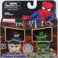 Stretch Attack Mr. Fantastic & World War Hulk Marvel Minimates  Mini Figure 2 Pack Exclusive