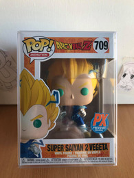 Dragon Ball Z: Super Saiyan 2 Vegeta Pop Figure (PX Exclusive) w/ POP Protector
