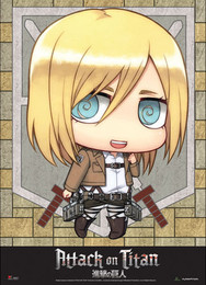 Attack on Titan SD Christa Fabric Poster (Wall Art)