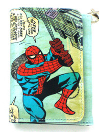 Marvel Amazing Spider-Man Comic Print Wallet with Chain