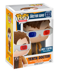 Doctor Who 10th Doctor 3D Glasses Funko POP Vinyl Figure Hot Topic Exclusive