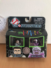 Dr. Egon Spangler & Libray Ghost Ghostbusters Minimates Mini Figure 2 Pack Exclusive