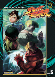 Street Fighter Vol. 5: Kick It Into Turbo! (Manga) Paperback