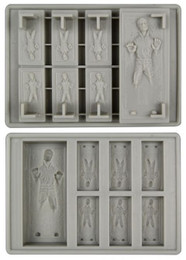 Star Wars Han Solo in Carbonite Gray Silicon Ice Cube Tray
