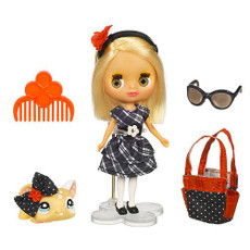 Blythe Mini Doll with Little Pet Shop and Buckles & Bows