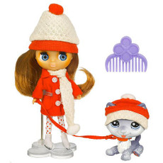Blythe Mini Doll with Little Pet Shop Cold Weather Cute