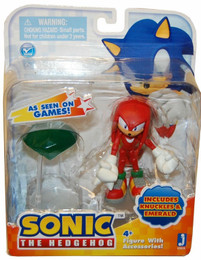 "Sonic the Hedgehog: Sonic Knuckles 3"" Action Figure With Accessories Emerald"