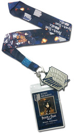 Attack on Titan: Misaka & Scouting Regiment Emblem Lanyard ID Holder with Charm