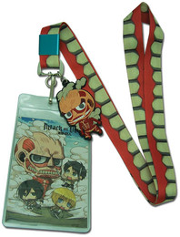 Attack on Titan: SD Colossal Titan Lanyard ID Holder with Charm