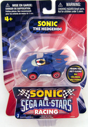 Sonic & Sega All-Star Racing 1.5 Inch Mini Vehicle Sonic Figure