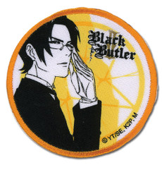Black Butler 2 Claude & Contract Round Iron on Patch