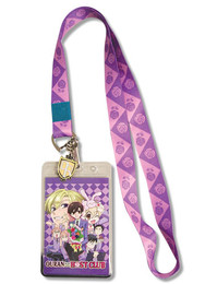 Ouran High School Host Club Group Lanyard ID Holder with Charm