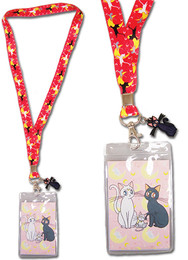 Sailor Moon: Cat Guardians Lanyard ID Holder With Charm