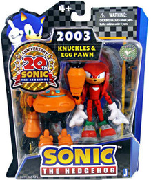 Sonic 20th Anniversary: 3.5'' 2003 Knuckles Egg Pawn Action Figure