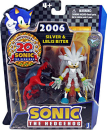 Sonic 20th Anniversary: 3.5'' 2006 Silver & Iblis Biter Action Figure