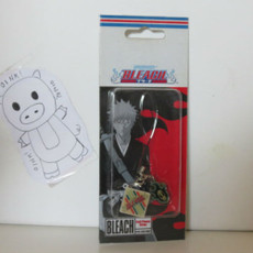 Bleach: Fire Skull w/ Bleach Logo Diamond Phone Charm