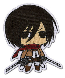 Attack on Titan SD Mikasa Iron on Patch