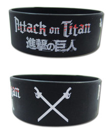 Attack on Titan: Logo & Crossed Swords Wristband