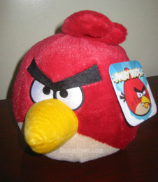 Birds Red Bird 8 Inch Deluxe Plush (No Sound)