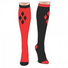 Batman Harley Red and Black Knee Socks