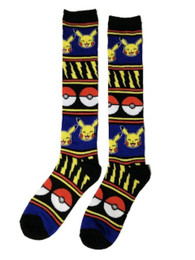Pokemon: Pikachu, Pokeball & Lightning Knit Knee High Socks