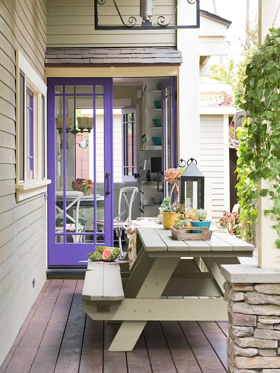 Purple door from Better Homes and Gardens