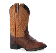 Old West Kids Sport Rust Western Boots
