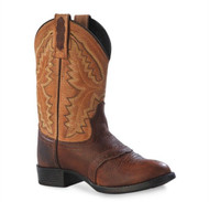Old West Kids Sport Rust Youth Western Boots